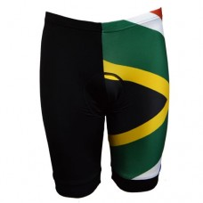 Black / SA Flag Cycling Shorts