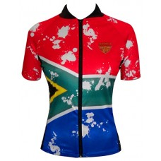 SA Flag Cycling Jersey Ladies