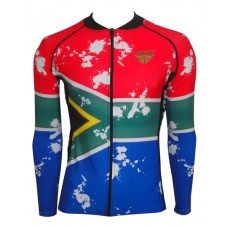 SA Flag Cycling Jacket Long Sleeve