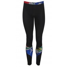Black / SA Flag Tights Compression Long