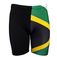 Black / SA Flag Tights