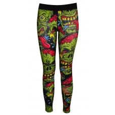Zombie Compression Tights-Green