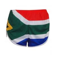 SA Flag Round Leg Running Shorts