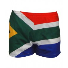 SA Flag Square Leg Running Shorts
