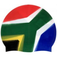 Swimming Cap-SA Flag Rainbow